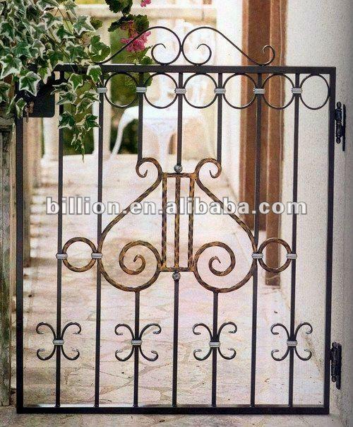 2012 f brica nuevo dise o fabricante forjado puerta de - Puertas de hierro para jardin ...