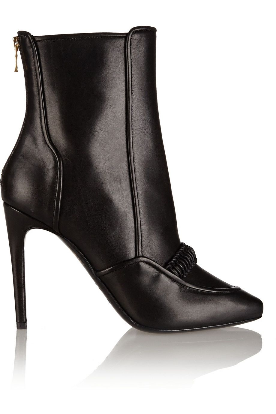 Balmain Leather Ankle Boots sVNEOO
