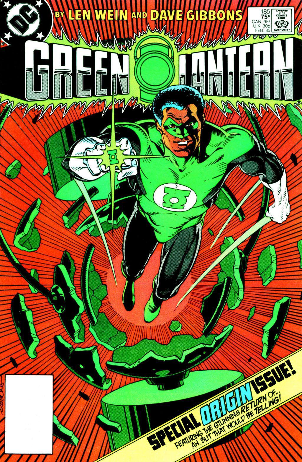 Green Lantern #185, February 1985 - Dave Gibbons   Linterna verde ...