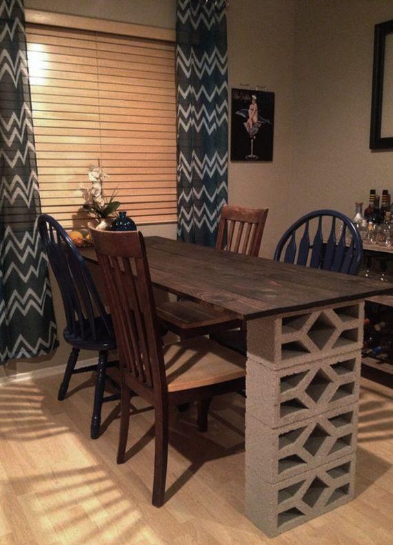 Betonblöcke für tolle DIY Möbel | Holzplatte, Selber bauen und Küche