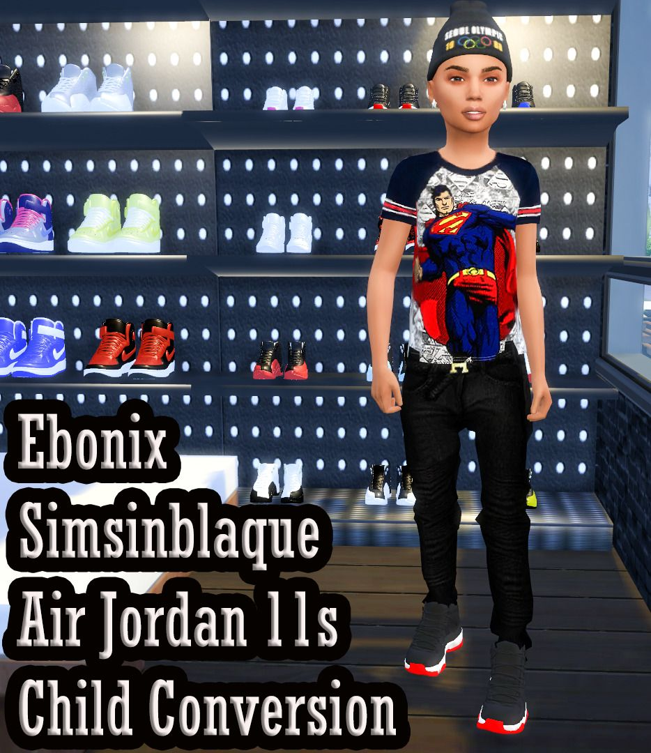 ALL MY SIMS — ebonixsimblr: Ebonix SimsinBlaque Air Jordan 11s.