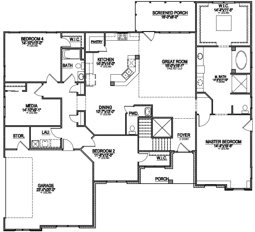 Accessible House Plan Wheelchair Accessible Floor Plan