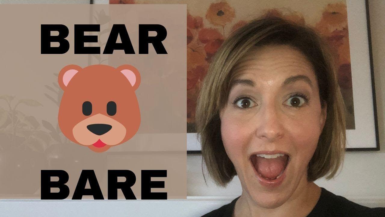How to pronounce bear bare english pronunciation