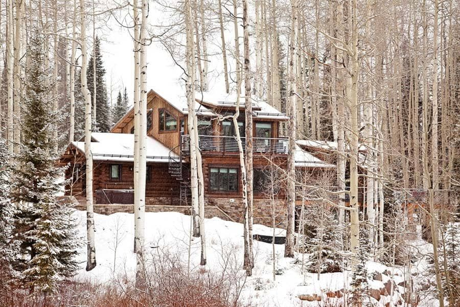 Photo of Rustic log cabin features cozy living in mountain village of Telluride