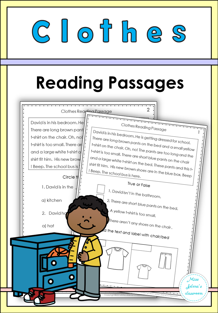 - Clothes Reading Passages (With Images) Reading Passages