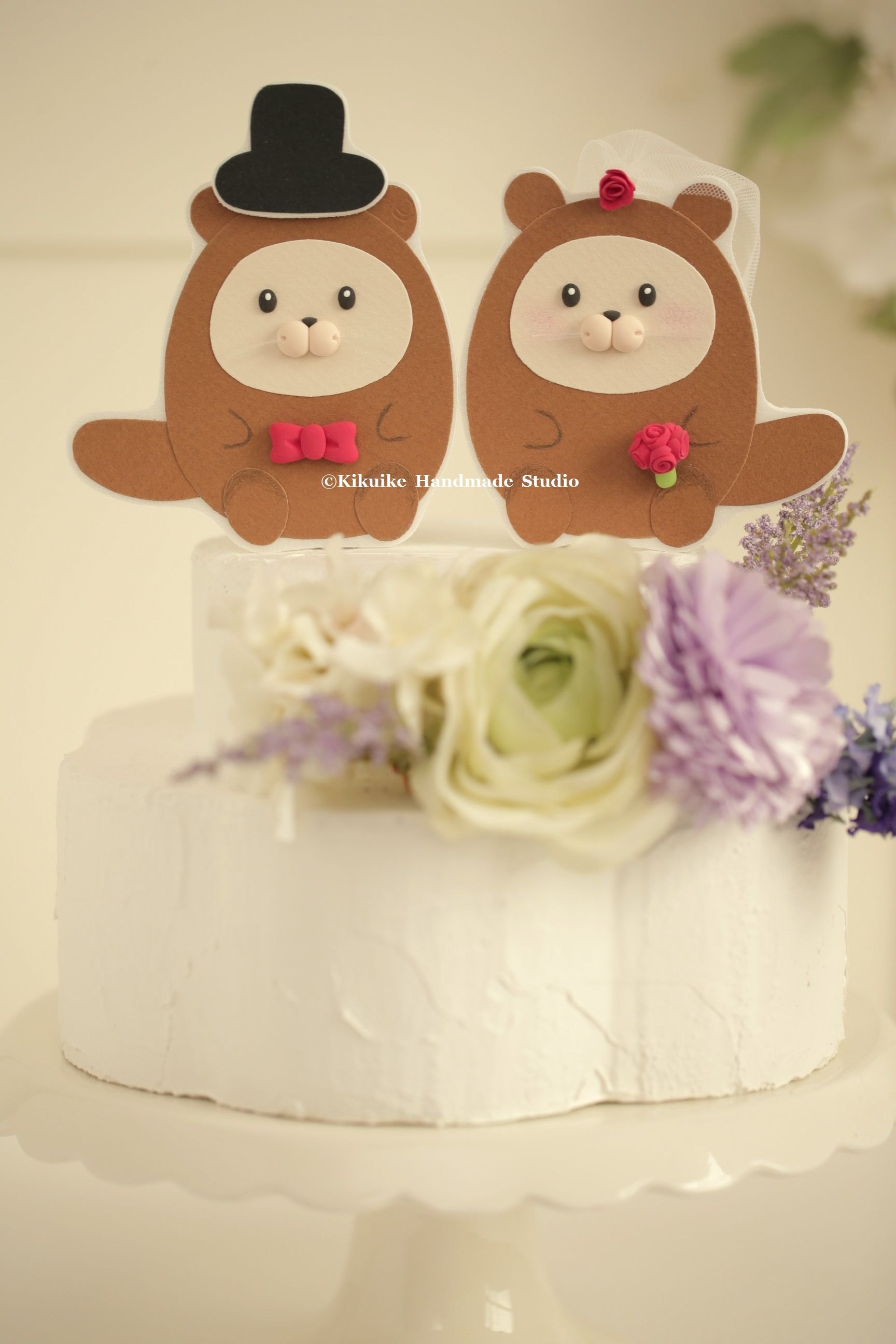 Otters Wedding Cake Topper,Custom Otters Wedding cake topper,Otters ...