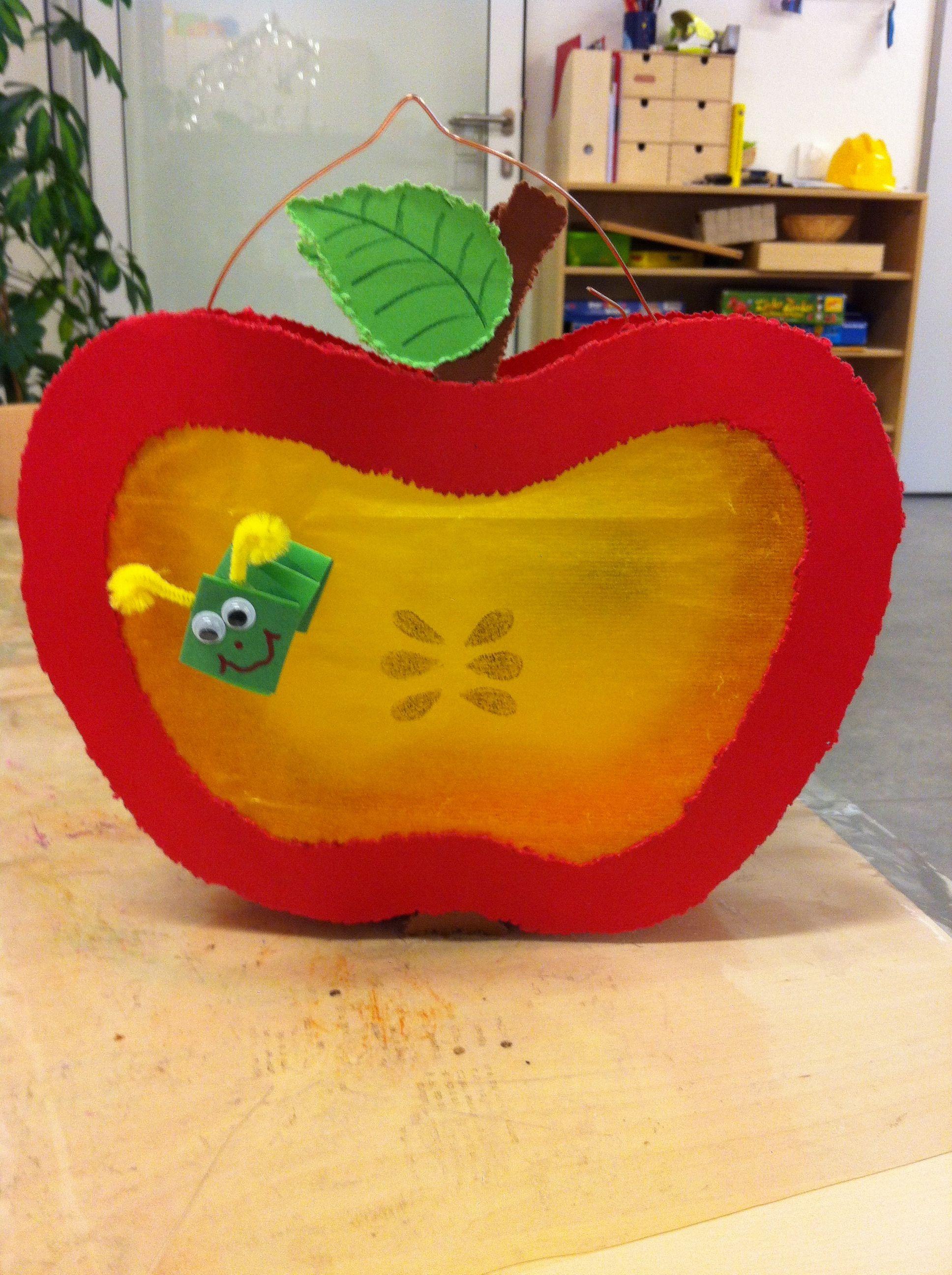 Laterne apfel ohne vorlage projekt so rund und so for Apfel basteln herbst