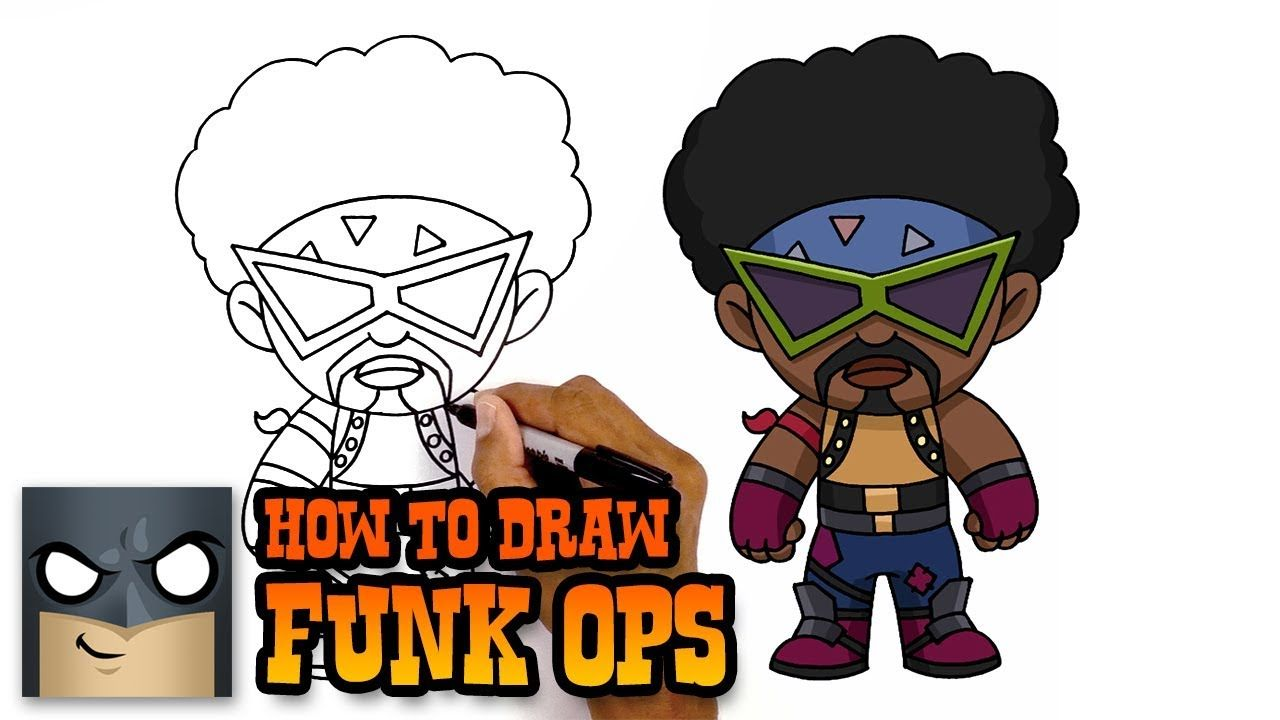 How To Draw Funk Ops Fortnite Awesome Step By Step Tutorial