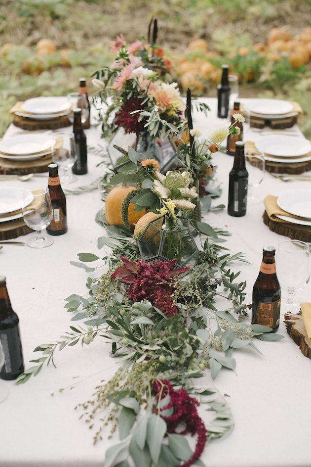 Kürbisbeet Hochzeit Inspiration für den Herbst   – wedding