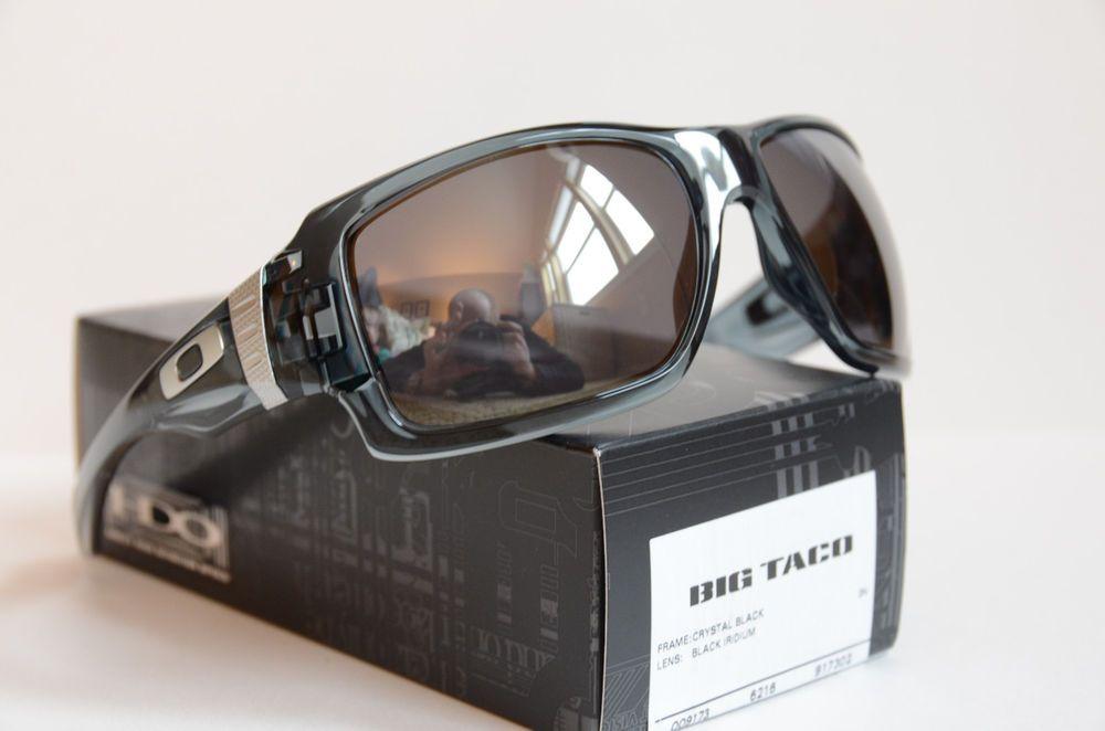 2f034afa74 Oakley Big Taco Sunglasses Crystal Black Black Iridium 009173-02 FS NIB