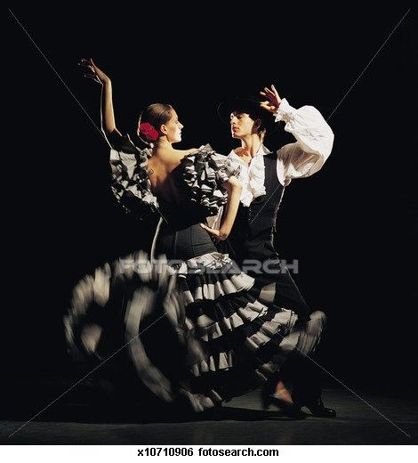 Man And Woman Dancing The Flamenco Stock Photograph Flamenco