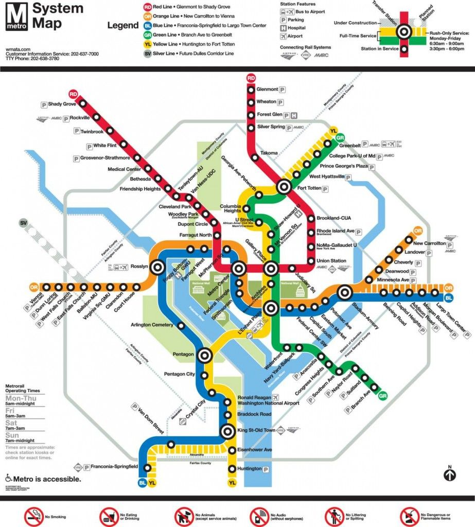 Best Large Printable Map Of Washington DC That I Could Find Maps - Washington dc area map pdf