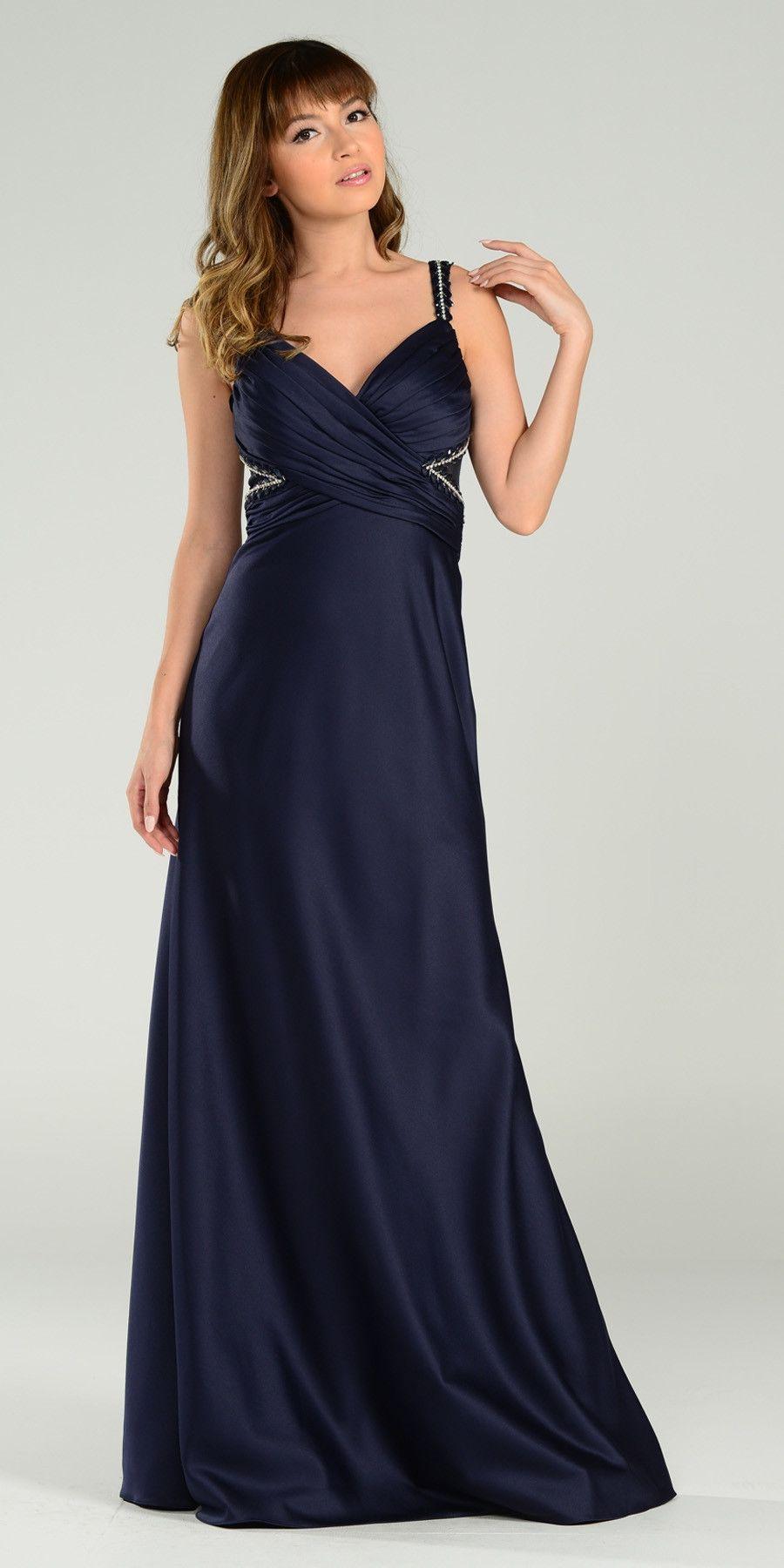 On special limited stock formal floor length satin burgundy dress