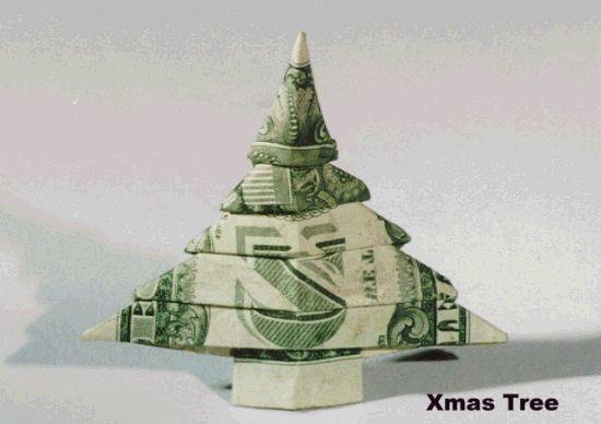 dollar bill origami Christmas tree - Dollar Bill Origami Christmas Tree œ� Creativity Of The Craftiest