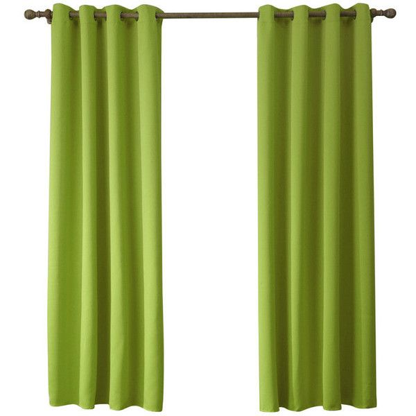 Modern Simple Yellow Green Blackout Curtains Finished Curtains 7 S... ($30) ❤ liked on Polyvore featuring home, home decor, window treatments, curtains, ready made curtains, green curtains, green draperies, yellow home accessories, green home accessories and yellow home decor
