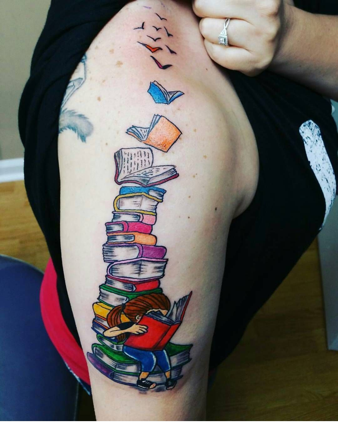 18 Tattoos Every Book Lover Will Fall In Love With Immediately Bookish Tattoos Book Tattoo Book Lover Tattoo