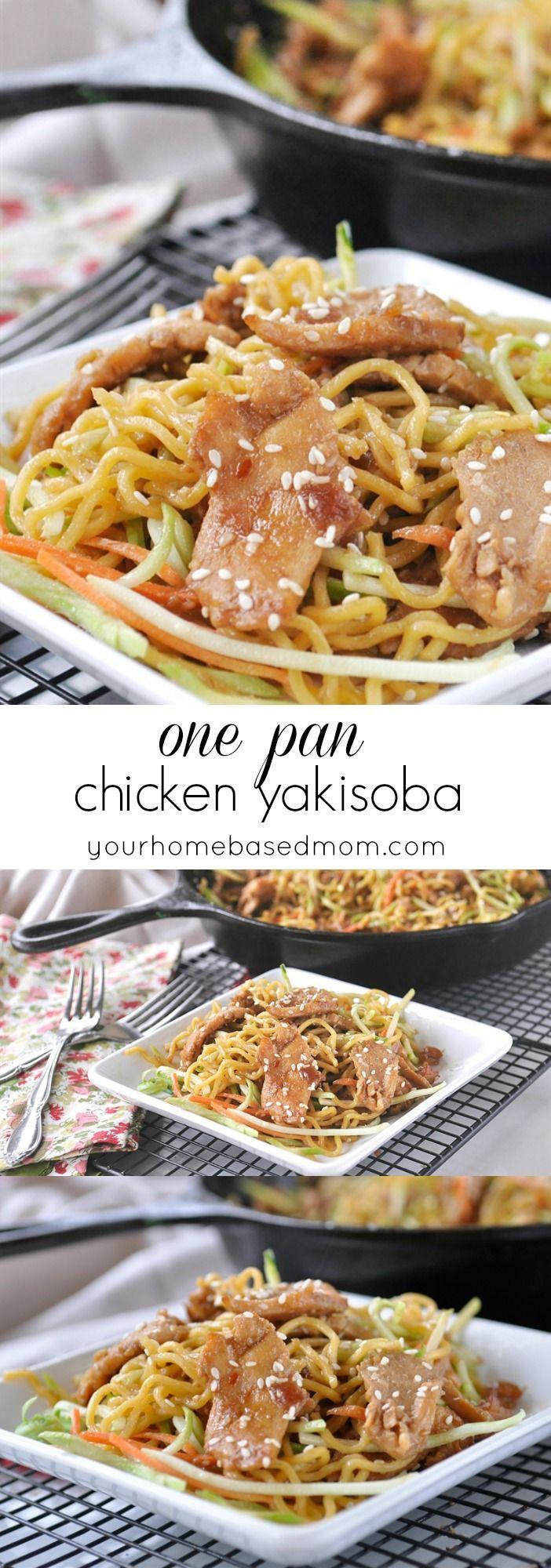 One Pan Chicken Yakisoba