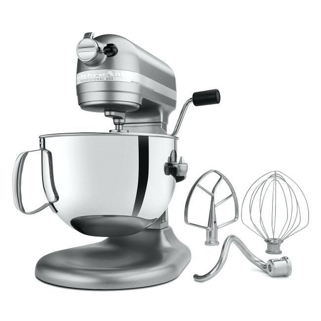 Silver Professional 6 Quart Bowl Lift Stand Mixer Kitchen