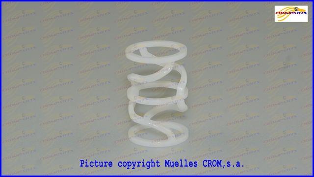 Compression spring made of POM plastic - Muelle de compresión fabricado con plástico POM
