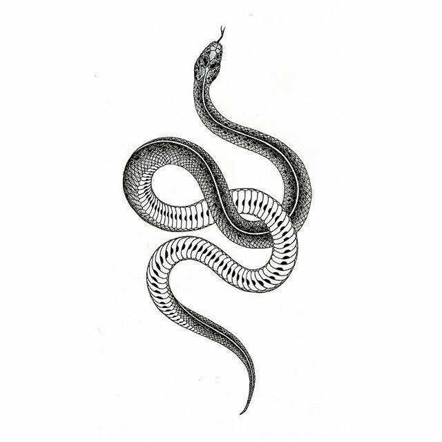 Эскиз змея   Татуированные модели, Тату кобры, Татуировки