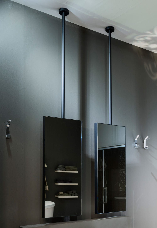 Ceiling-mounted mirror / contemporary / rectangular ...