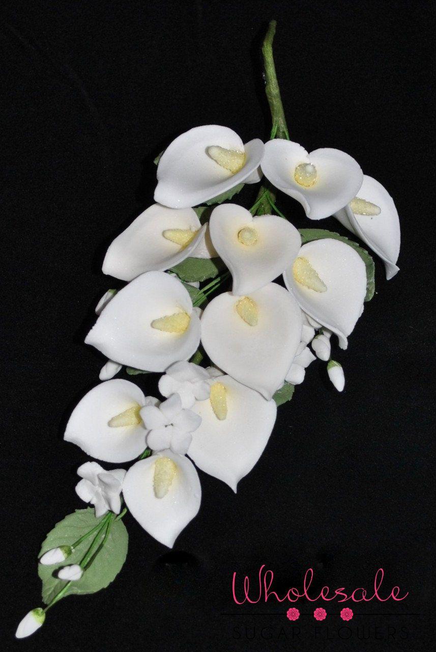 6 Calla Lily Spray 1 Bunch Calla Lily Purple Wedding Cakes Wedding Cake Fresh Flowers