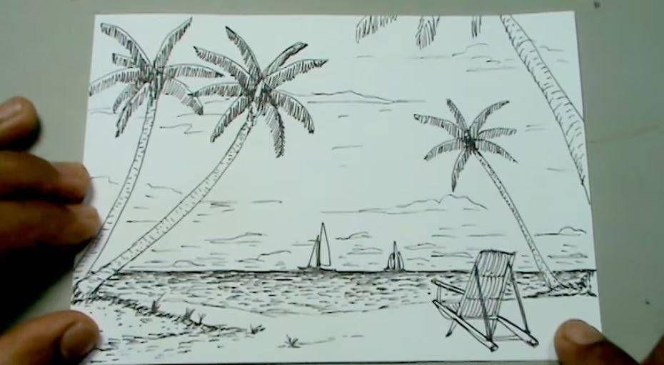 Paso 4 Para Aprender A Dibujar Un Paisaje De Playa Como Dibujar Una Playa Como Aprender A Dibujar Playa Para Dibujar