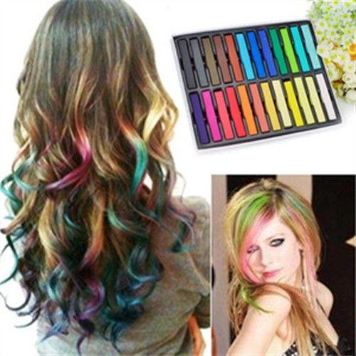 Temporary Hair Color 116250 6 Fashion Powder Colors Dye Chalk