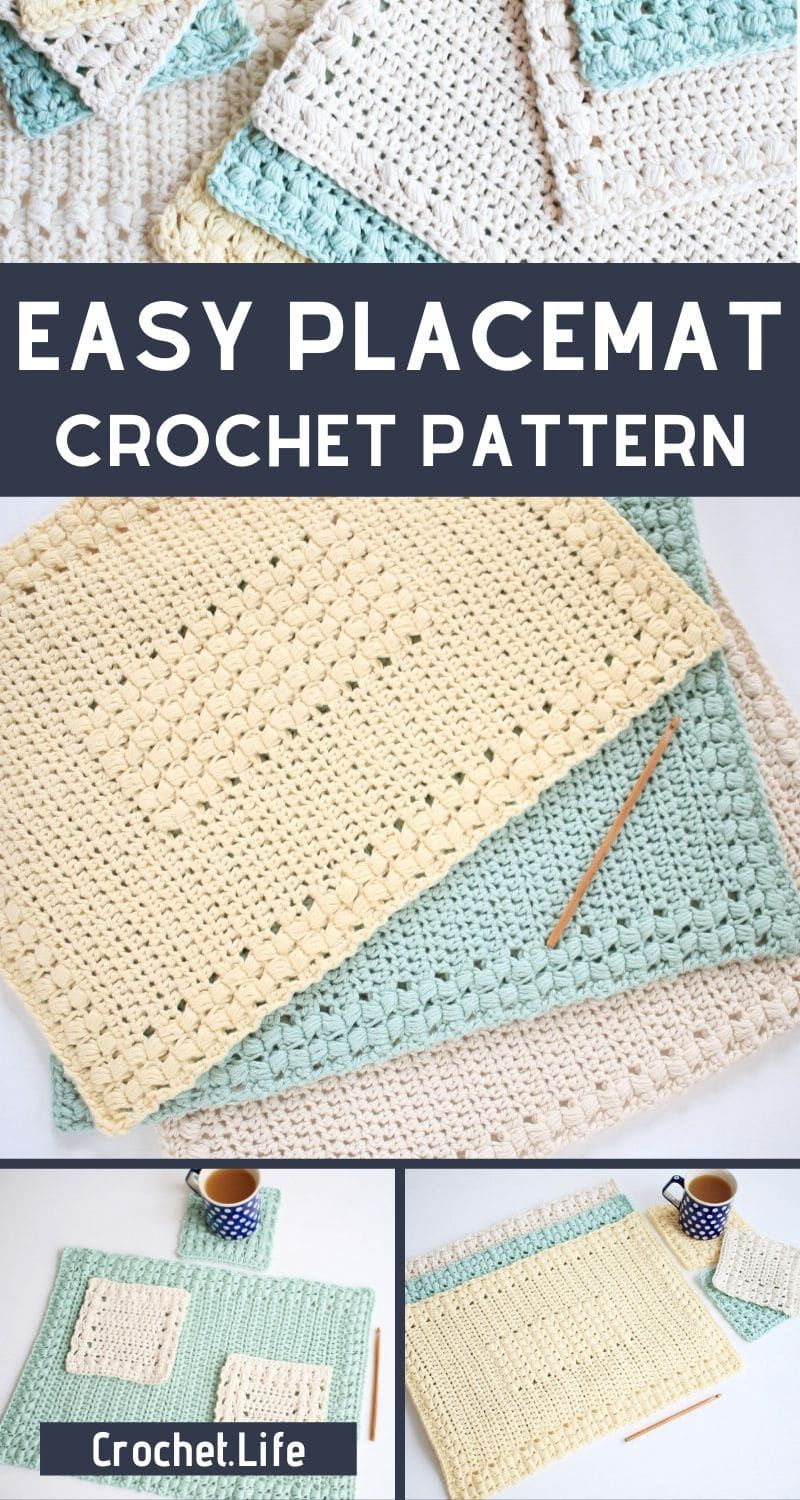 These 3 Easy Crochet Placemat Patterns Are So Fun You Can Make An Easy Placemat In No Time For In 2020 Crochet Placemat Patterns Placemats Patterns Crochet Placemats