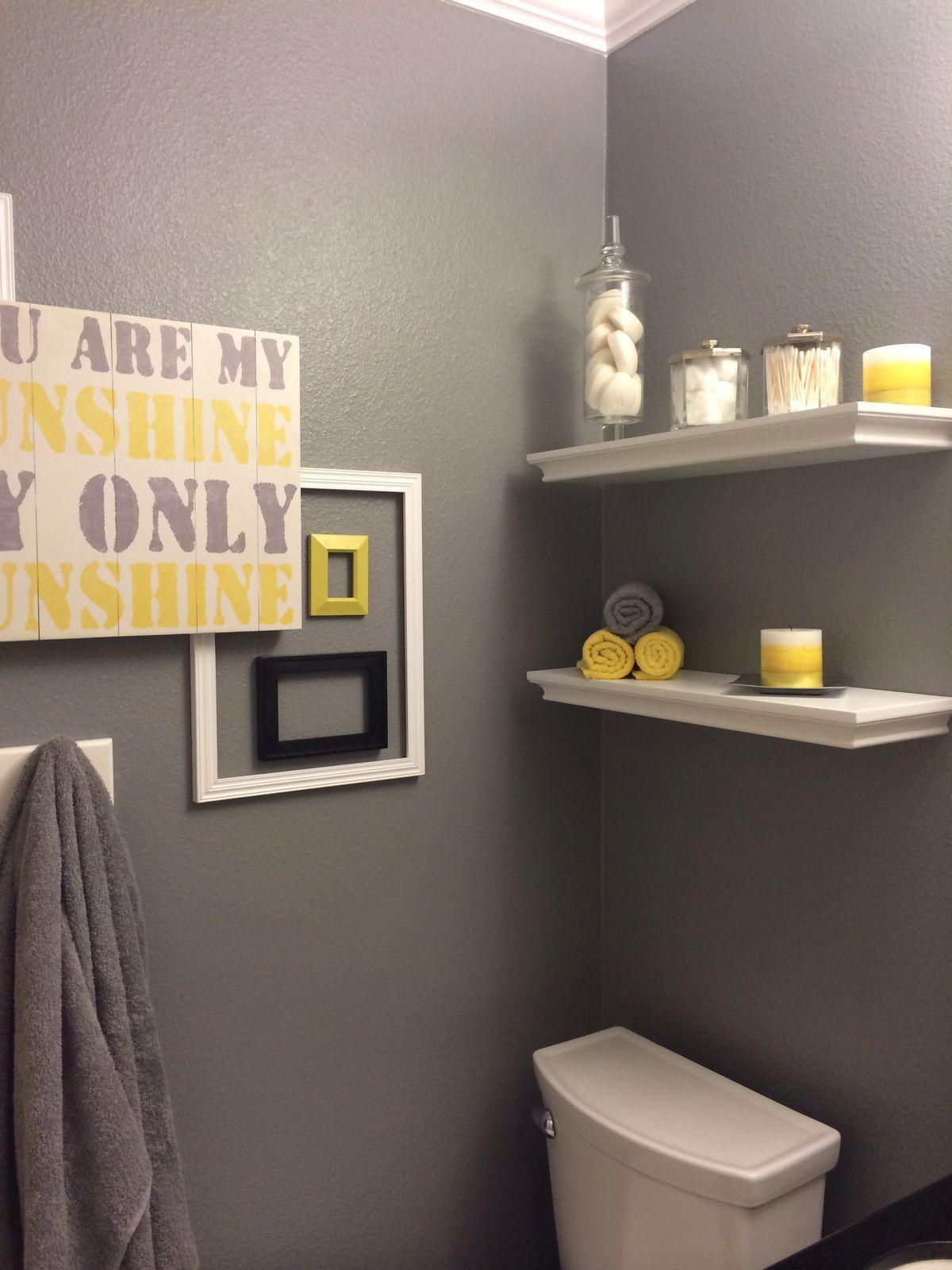 Pin By Maddie On Yellow Gray Bathroom Yellow Bathroom Decor