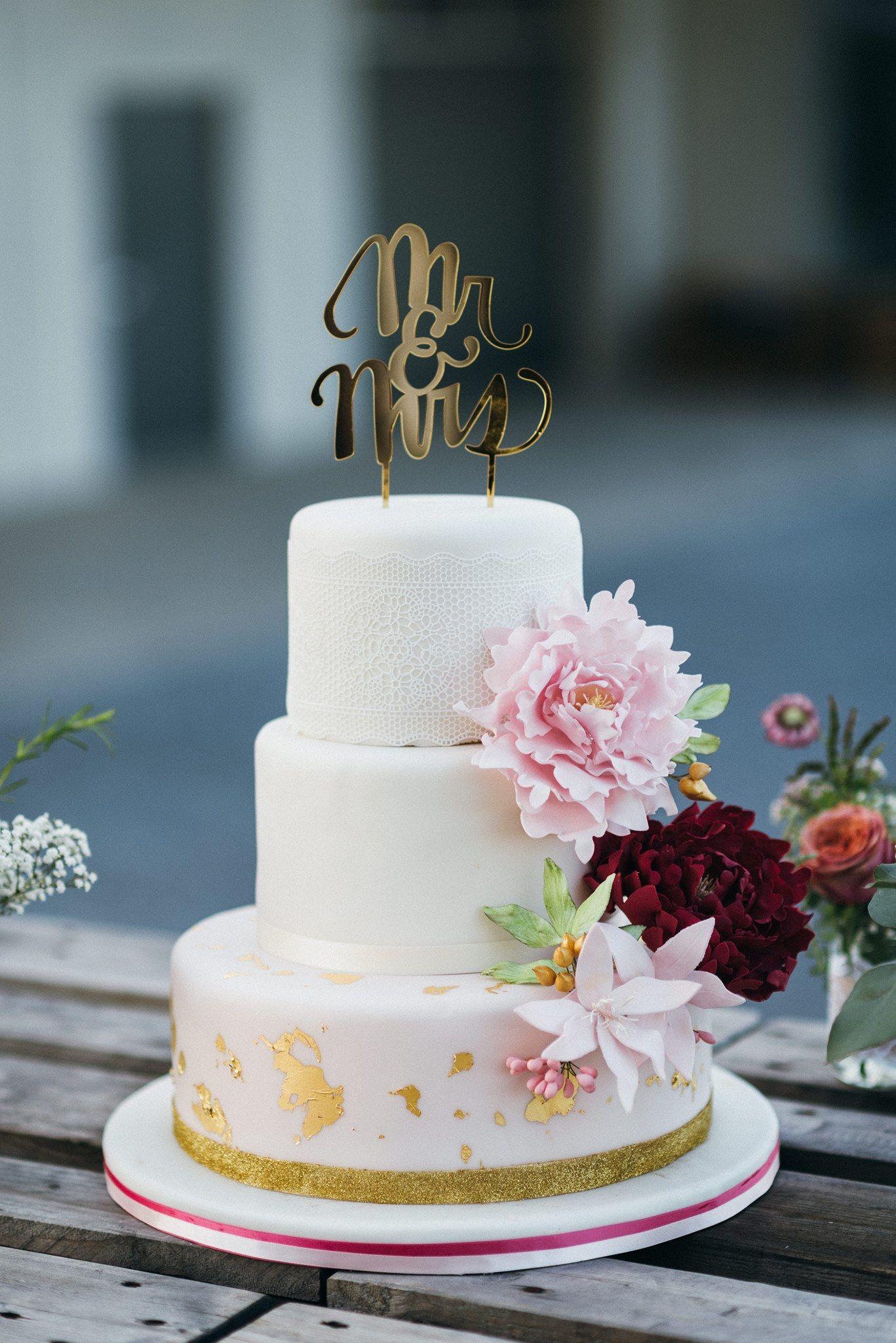 Hochzeitstorte Pfingstrose Peony Heike Krohz Weddingcake Foto