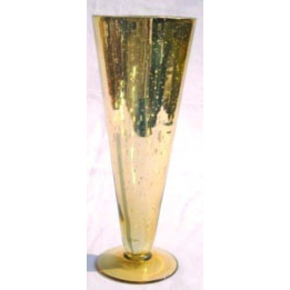 10 x 4 Gold Glass Pilsner Vase [SK22005 Buy Gold Pilsner Vase ...