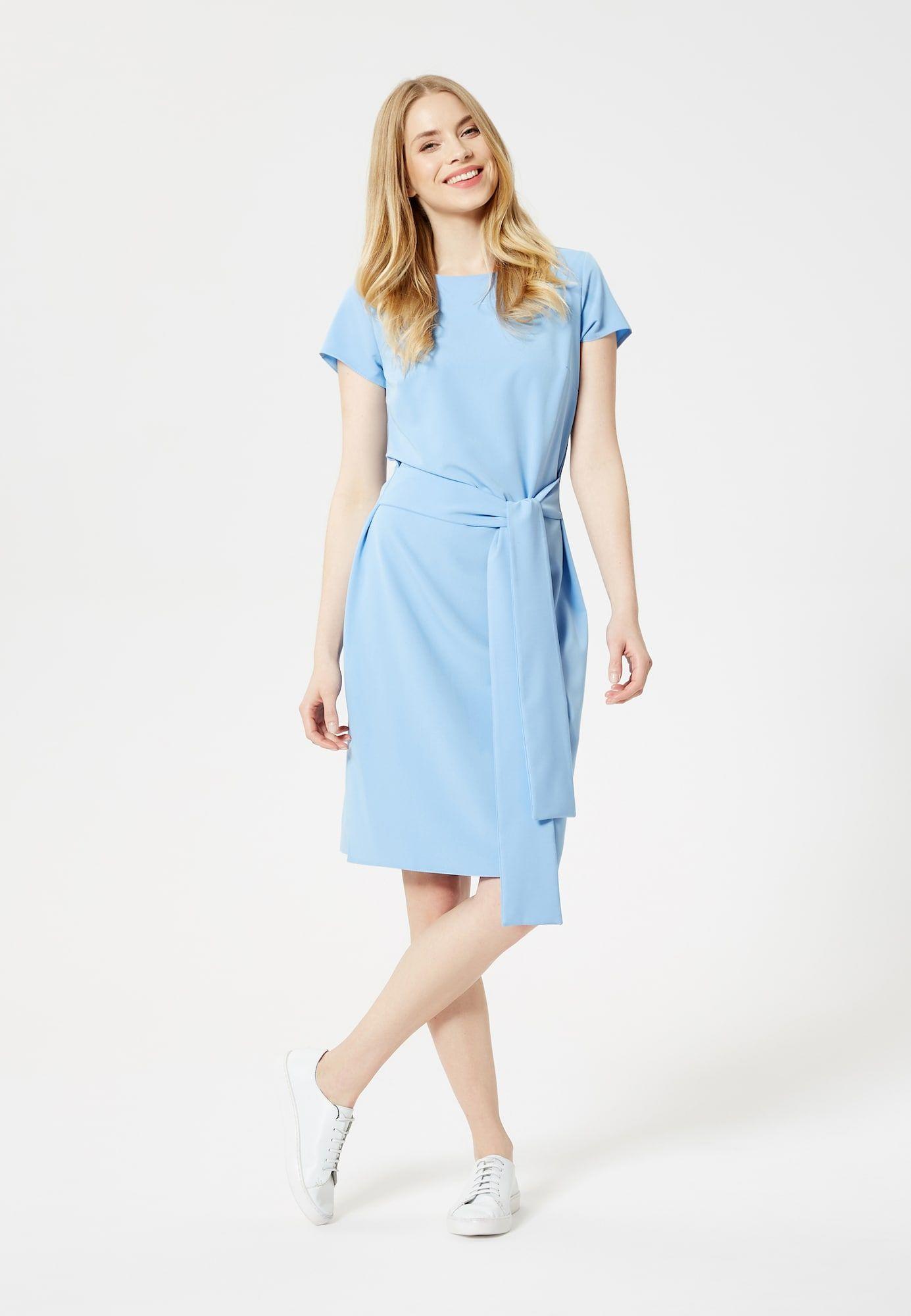 usha kleid damen, hellblau, größe 38 | kleider, oberhemden