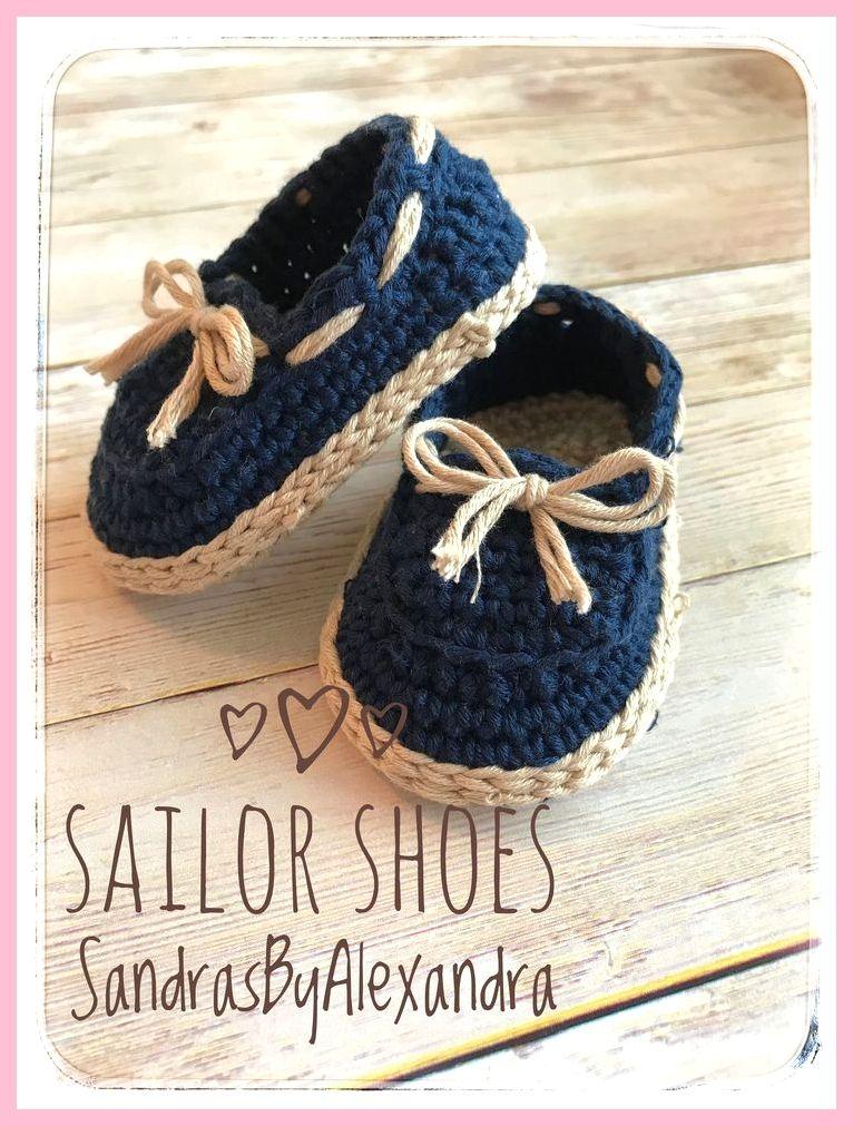 Photo of Crochet Baby boy sailor shoes, baby loafers van SandrasByAlexandra op Etsy www.e…