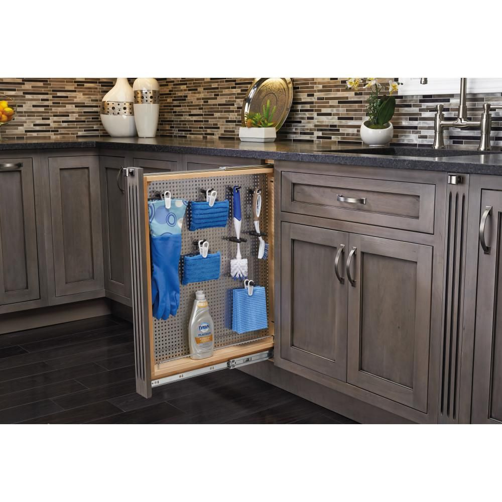 Rev A Shelf 30 In H X 3 In W X 23 In D Pull Out Between Cabinet Base Filler With Stainless Steel Panel And Soft Close Slides 434 Bfbbsc 3ss The Home Depot New Kitchen Cabinets
