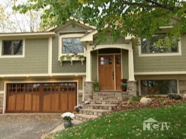 Exterior Home Makeover Split Level Home With Craftsman Details Exterior House Colors House Front Exterior Remodel