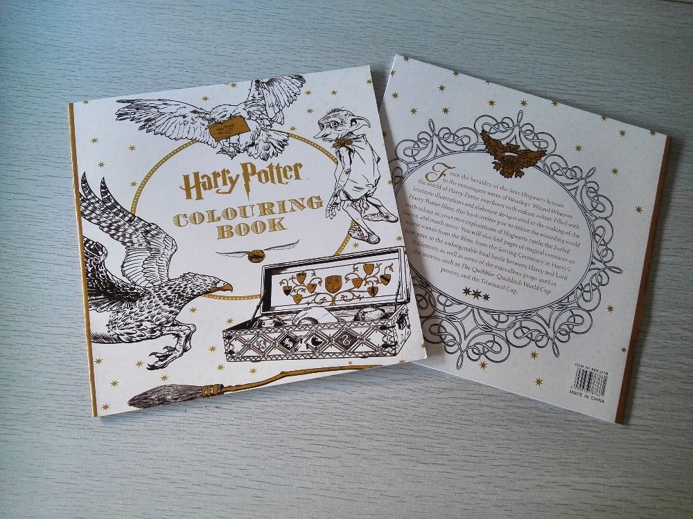 24 Page Harry Potter Coloring Book Secret Garden Series Price 995 FREE