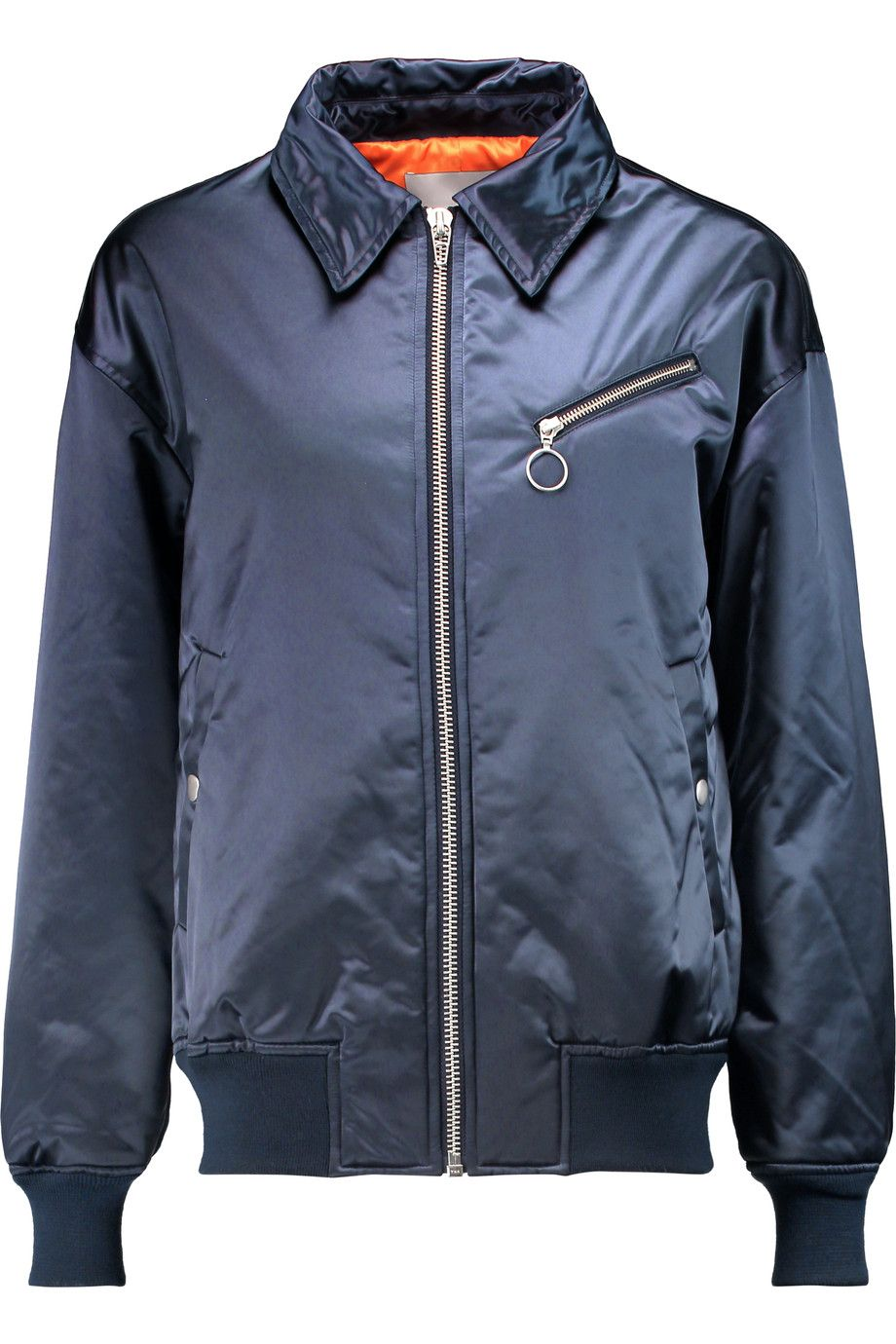 T BY ALEXANDER WANG Satin-shell bomber jacket. #tbyalexanderwang #cloth #jacket