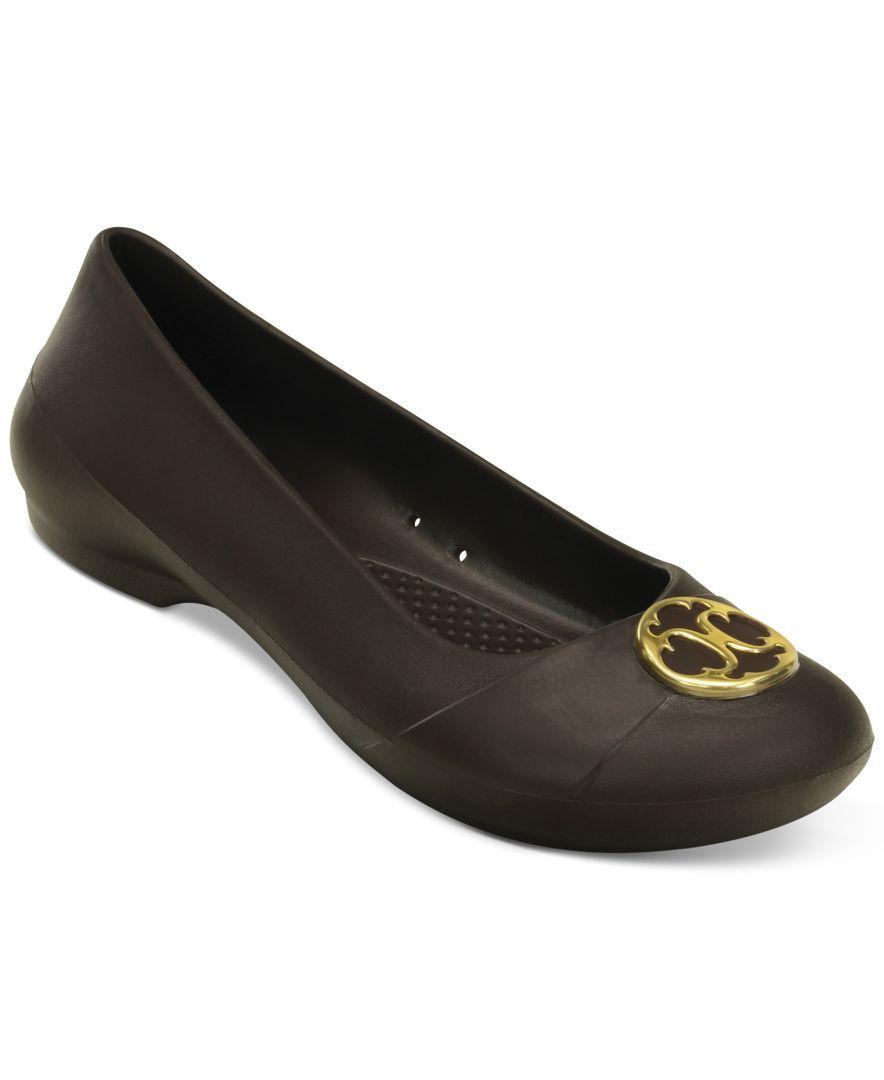 59114074b92b2 Crocs Women's Gianna Disc Flats | Products | Flats, Crocs, Shoes