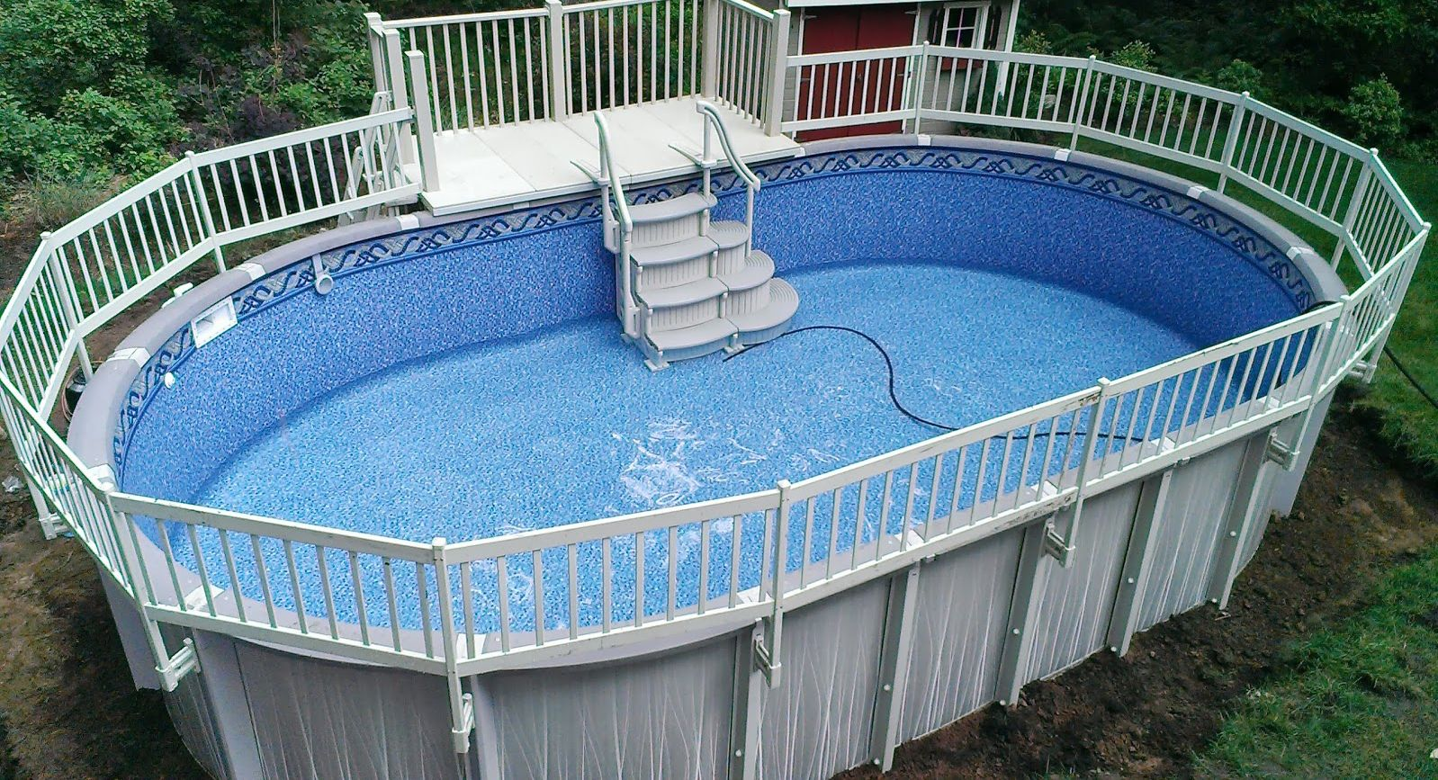 Resin Deck On Trevi Pool In Ground Pools Above Ground Pool