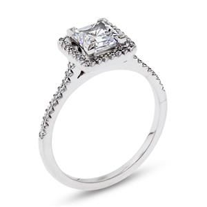 Shop online MICHAEL B WRP-13147 Halo Platinum Diamond Engagement Ring at Arthur's Jewelers. Free Shipping