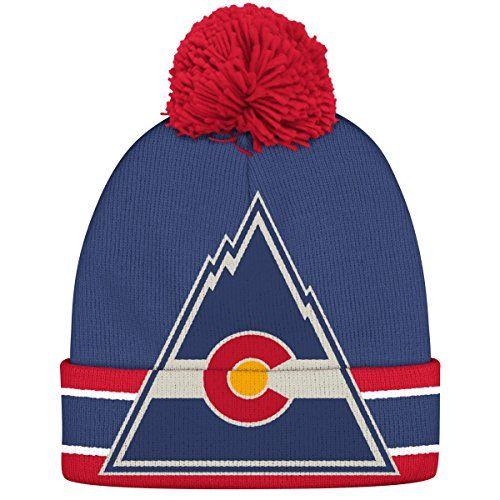 9484a216c NHL Colorado Avalanche Adult CCM Cuffed Pom Knit Beanie, One Size ...