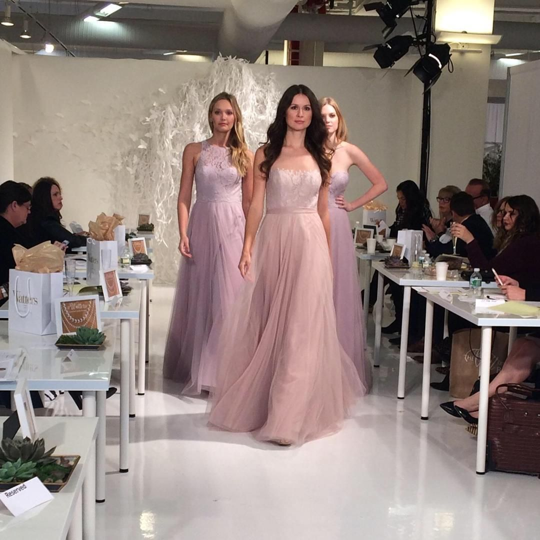 Live from the watters runway show love these bridesmaid gowns in love these bridesmaid gowns in burnished lilac ombrellifo Choice Image