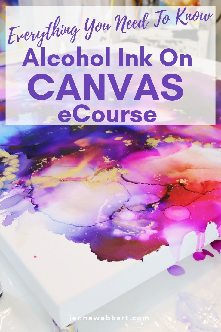 Alcohol Ink on Canvas eCourse #alcoholinkcrafts