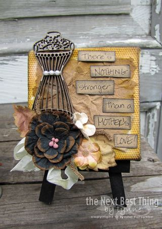 """We have more """"grunge"""" from Lynne Forsythe...using Petaloo Spring Darjeeling flowers, Tim Holtz Kraft Resist papers, and Tim Holtz inks and sprays!  See this project on our Blog!"""