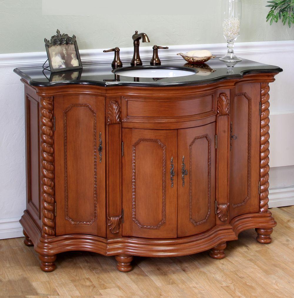 Bellaterra Home Light Walnut (Brown) 48-inch Single Bathroom Sink ...