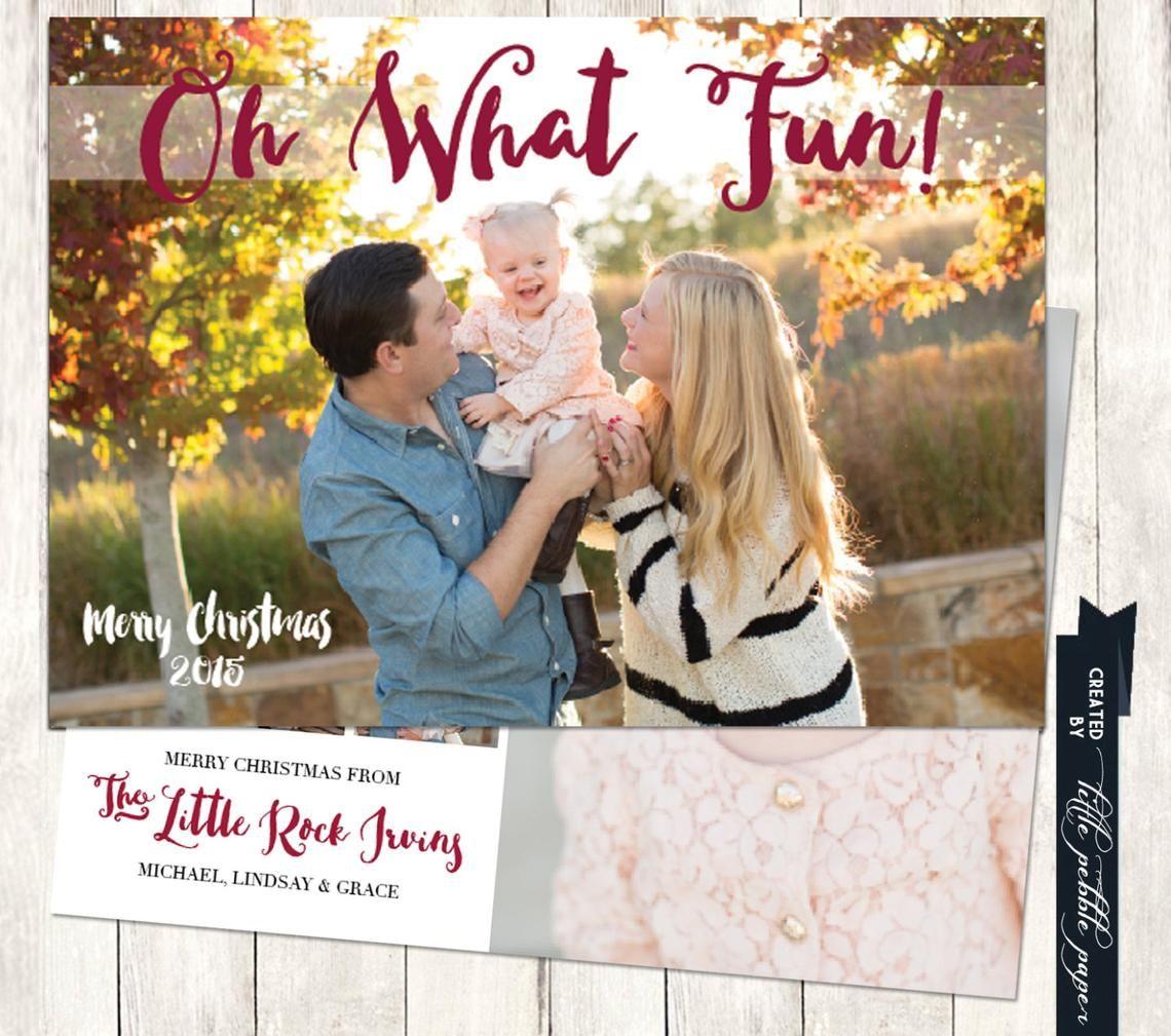 family christmas card printable photo christmas card oh what fun christmas card custom