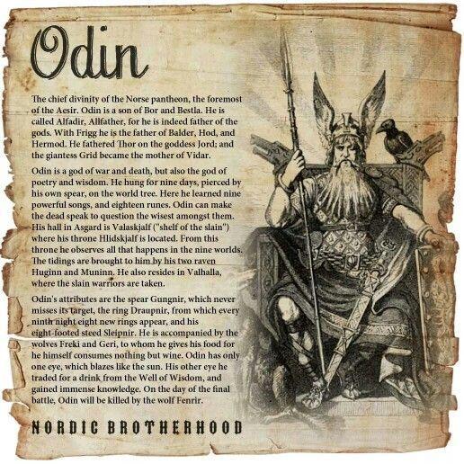 Photo of Vikings t shirt history #vikingsymbols Odin, jefe del panteon de los dioses nord…