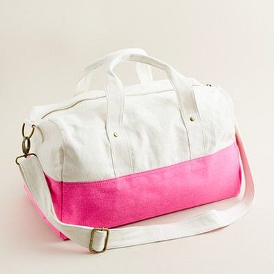 Cute overnight bag. Would be perfect with a monogram ...