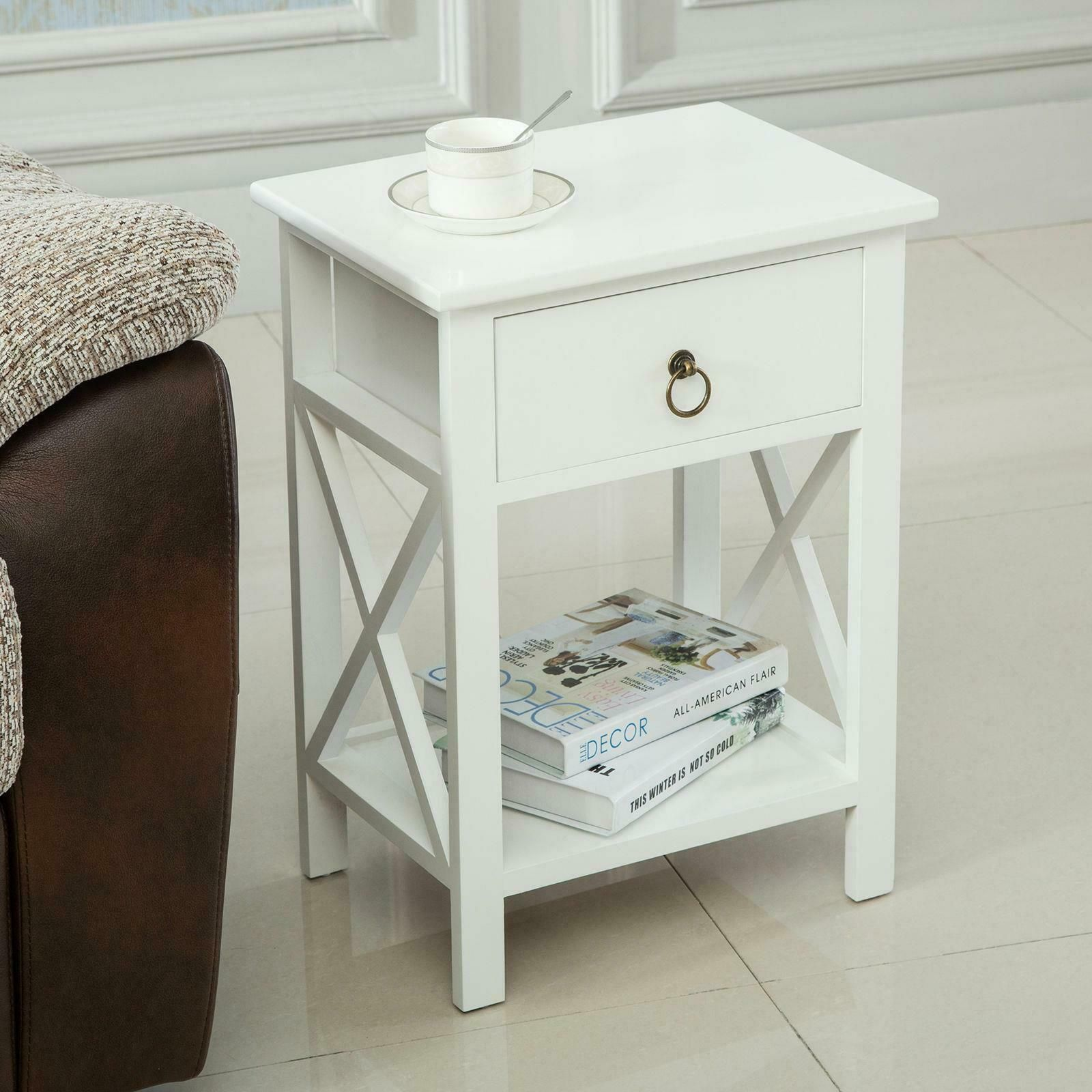 Nightstand Bedside Table Modern 2 Pcs